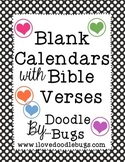 Blank Calendars with Bible Verses