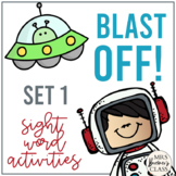 Blast Off! Sight Word Activity Pack {No. 1}