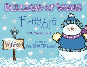 Winter - Blizzard of Words - CVC Game (FREEBIE)