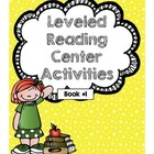 Leveled Reading Center Activities Book 1