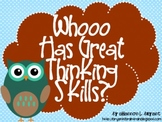 """Bloom's Taxonomy Class Posters (""""Whooo Has Great Thinking"""
