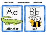 Blue Alphabet Line/Cards