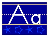 Blue Stars Alphabet Line - Zaner Bloser