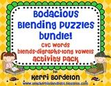 Bodacious Blending Puzzles Bundle!- CVC's, Blends, Digraph