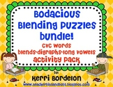 Bodacious Blending Puzzles Bundle!- CVC's, Blends, Digraph