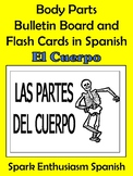 Body Parts Bulletin Board and Flash Cards in Spanish!