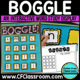 Boggle Display WORD STUDY GAME / CENTER Classroom Packet