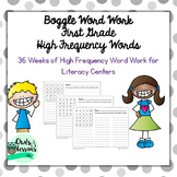 Boggle Word Work - 1st Grade High Frequency/Dolch Words