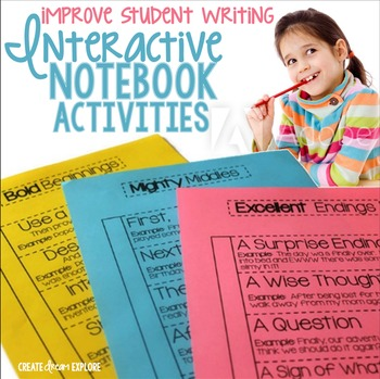 Writing Bold Beginnings, Mighty Middles, Excellent Endings Interactive Notebook