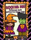 Boo Ha Ha {Halloween Math Centers for Bigger Kids}