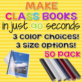 90 Second Book Creator Covers - 50 Pack {Steel Matt}