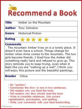 Book Recommendation Program for Reading / ELA Classes