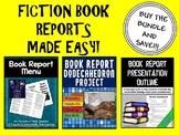 Book Report Bundle (Menu & Dodecahedron Project Kits)