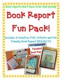 Book Report FUN PACK! 4 Projects! Board Game-Newspaper-Fac