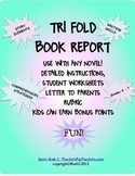 Book Report Trifold Use With Any Book