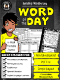 {Printable Booklet} Word of the Day - Student Reference
