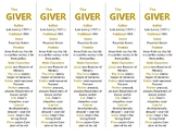 Bookmarks Plus: The Giver edition--A Handy Little Reading Aid!