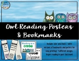 Reading Bookmarks and Posters - Owl Themed