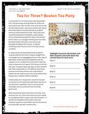 Boston Tea Party Podcast Internet Activity