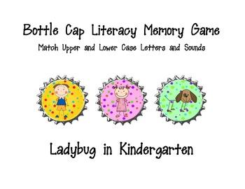 Bottle Cap Literacy Memory Game