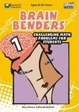 Brain Benders 1: Challenging Math Problem Solving Activiti