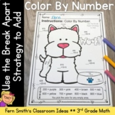 Break Apart Strategy for Place Value - Color Your Answers