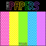 Bright Neon Digital Papers {44 backgrounds for personal &