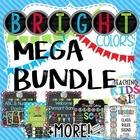 Bright Colors MEGA Bundle -Editable Labels, Behavior Chart