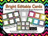 Bright Editable Cards {Freebie}
