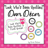Bright Circle and Owl Door Decor - Editable