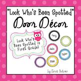 Bright Circle and Owl Door Decor - Editable