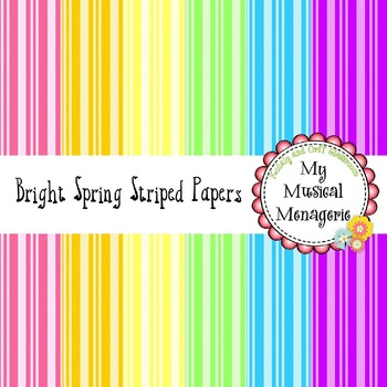 Bright Spring Striped Digital Paper {FREEBIE}