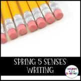 Spring 5 Senses Writing