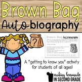 Brown Bag Biography {FREEBIE!} - A Getting to Know You Act