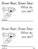 Brown Bear Brown Bear Emergent Reader Book *GREAT FOR READ
