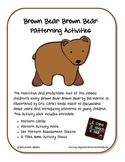 Brown Bear Brown Bear Patterning Activities