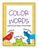 Brown Bear COLOR WORDS cards * FREE *