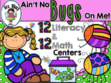 Bugs 24 Literacy and Math Centers {CC Aligned}