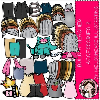 Build A Teacher Accessory pack 2 by Melonheadz COMBO PACK