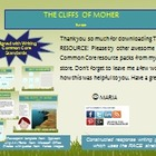 FREEBIE Literacy Center Idea: Cliff of Moher in Europe RI