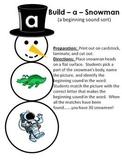 Build - a - Snowman - A Winter beginning sound sort