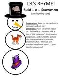 Build - a - Snowman - A Winter rhyming sort