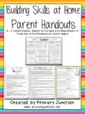 Building Skills at Home - Parent Handouts (English & Spanish!)