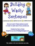 Building Wacky Sentences Station
