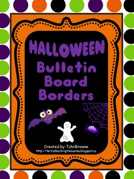 Bulletin Board Borders - Halloween Set 1