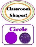 Artsy Teacher Cafe - SHAPES Set/9 *Multi-colors* POSTERS *