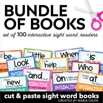 Bundle of Books {Interactive Sight Word Reader BUNDLED Set}