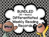 BUNDLED-32 Weeks Editable Weekly Reading Records with Dail