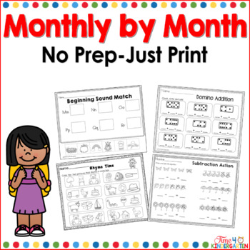 NO PREP packs for kindergarten