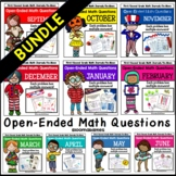 Bundled Open-Ended Math Questions for Journals or Do-Nows